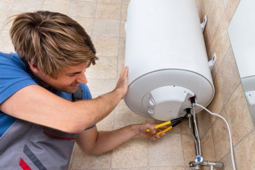 Servicio de instalación de calentador eléctrico.