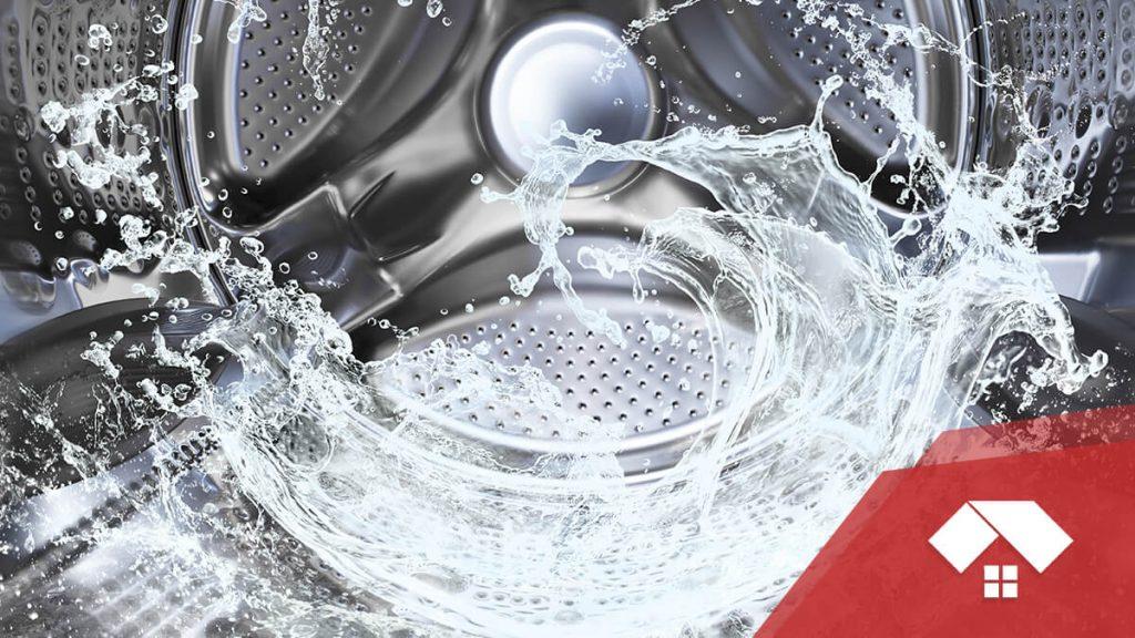 La lavadora no desagua del todo