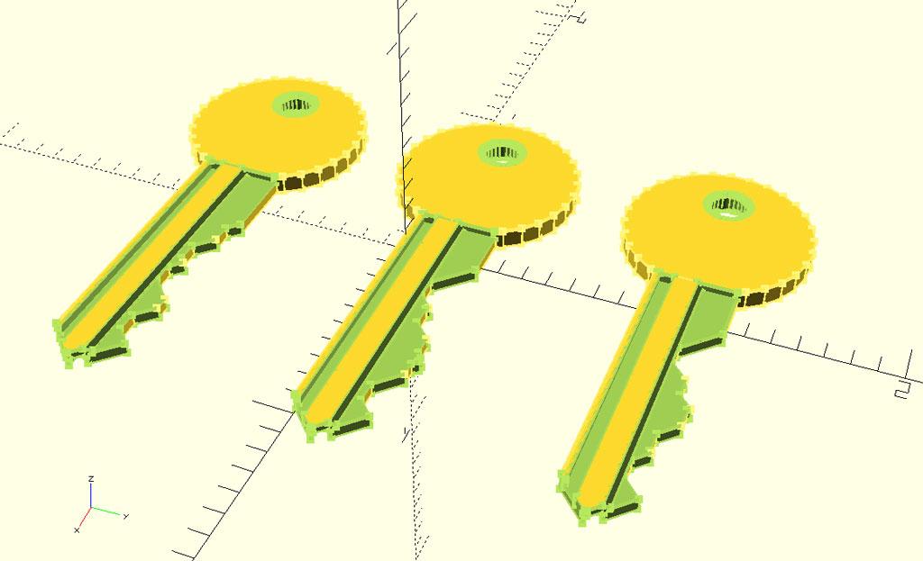 Aplicación OpenSCAD para diseño de llaves 3D